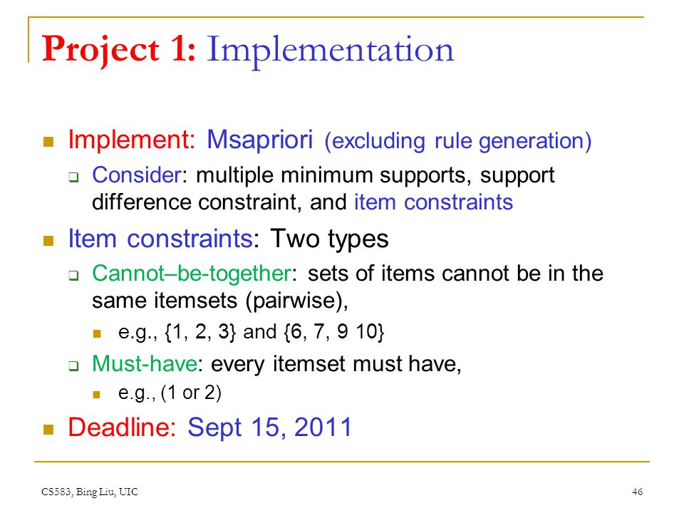 Project 1: Implementation