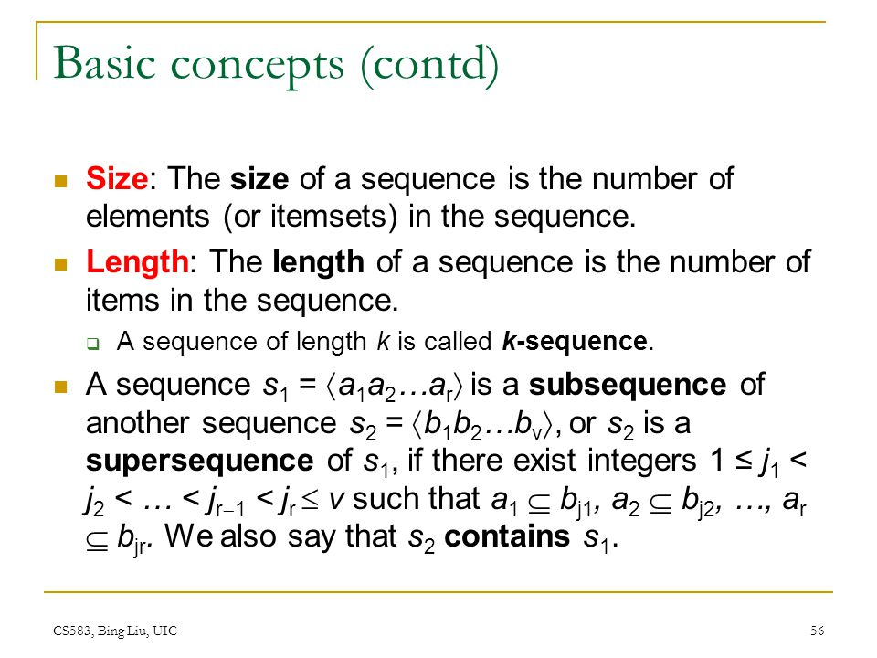 Basic concepts (contd)