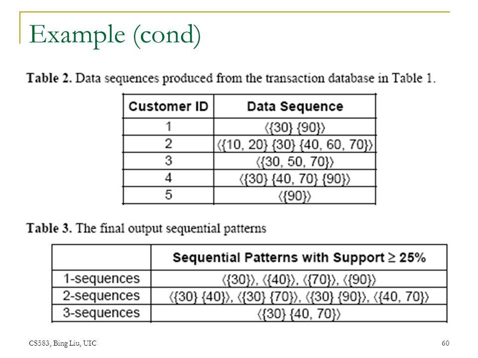 Example (cond) CS583, Bing Liu, UIC