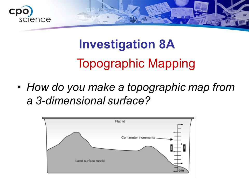 Investigation 8A Topographic Mapping