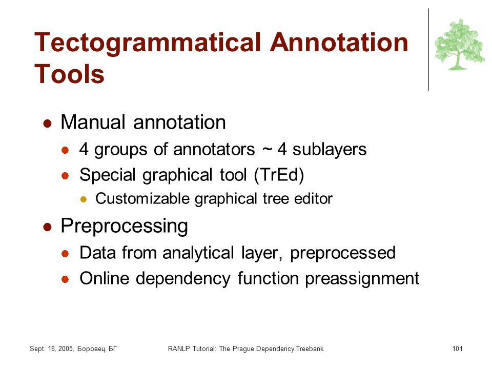Tectogrammatical Annotation Tools