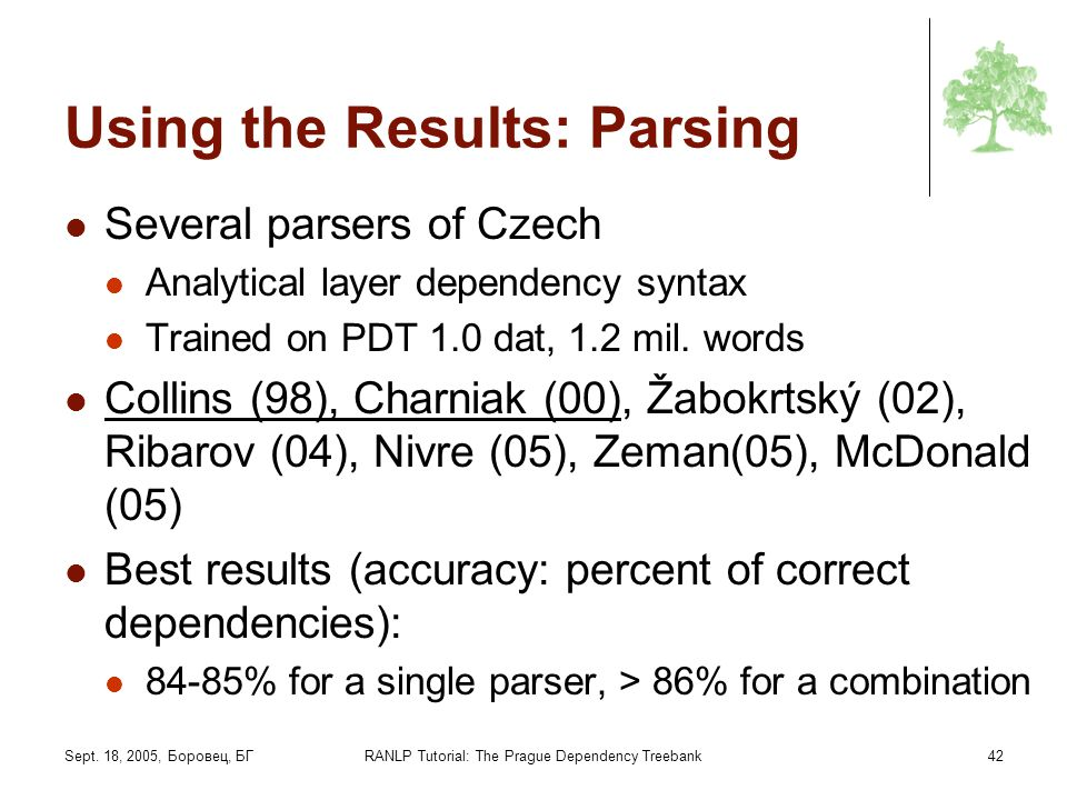 Using the Results: Parsing