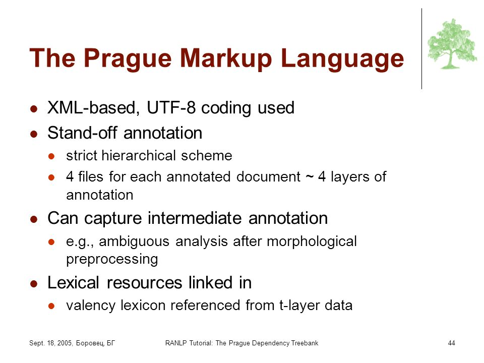 The Prague Markup Language