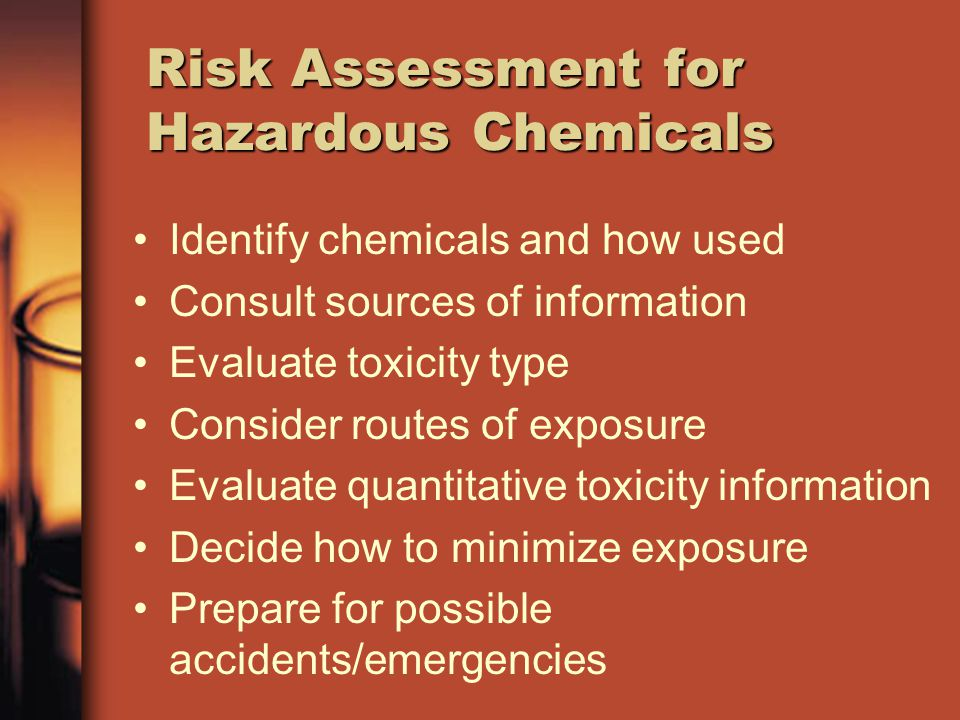Risk Assessment for Hazardous Chemicals