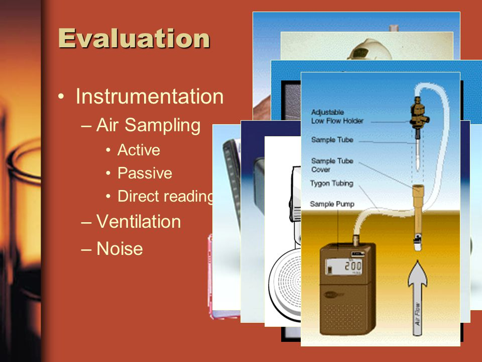 Evaluation Instrumentation Air Sampling Ventilation Noise Active
