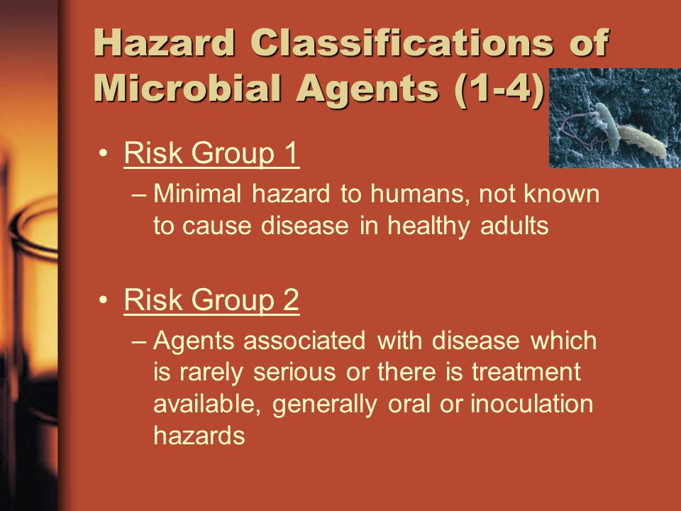 Hazard Classifications of Microbial Agents (1-4)