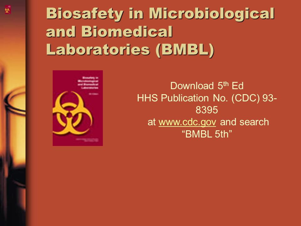 Biosafety in Microbiological and Biomedical Laboratories (BMBL)