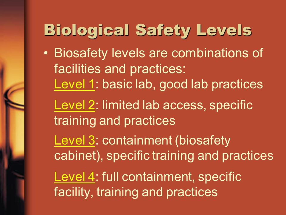 Biological Safety Levels
