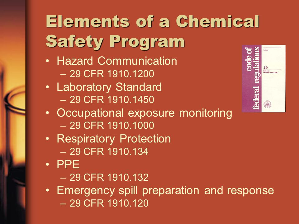 Elements of a Chemical Safety Program