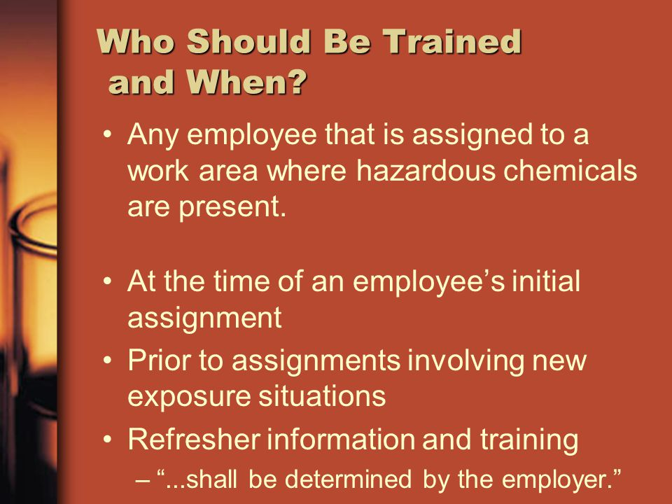 Who Should Be Trained and When