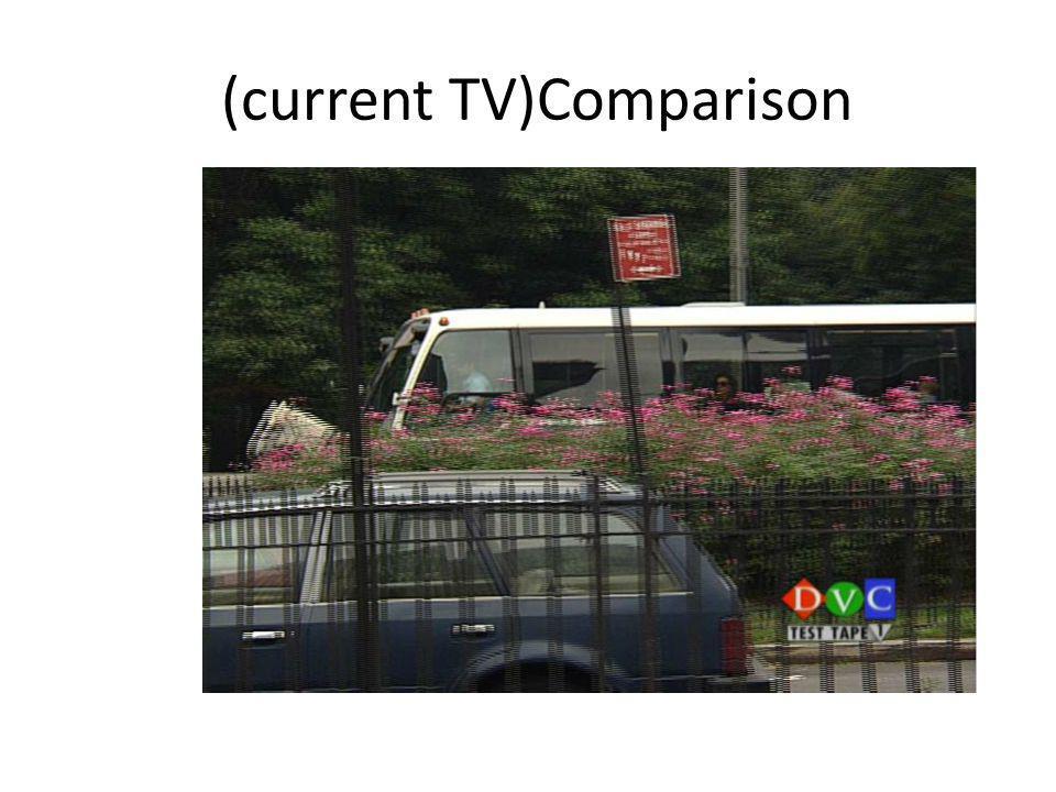 Comparison (current TV)