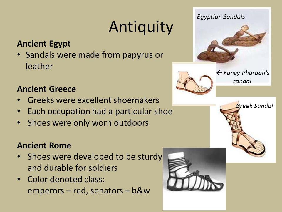  Fancy Pharaoh's sandal