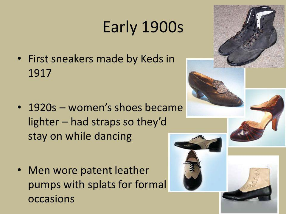 Early 1900s First sneakers made by Keds in 1917