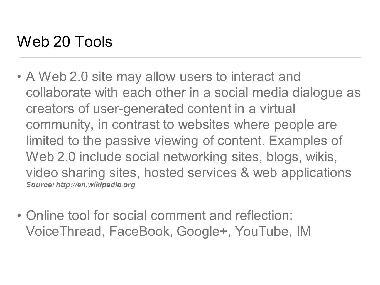 Web 20 Tools