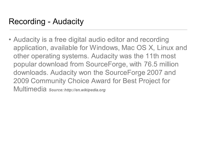 Recording - Audacity