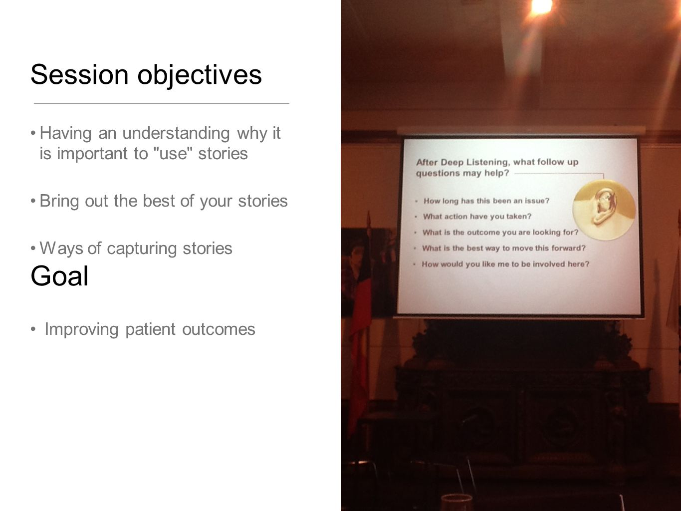 Session objectives Goal