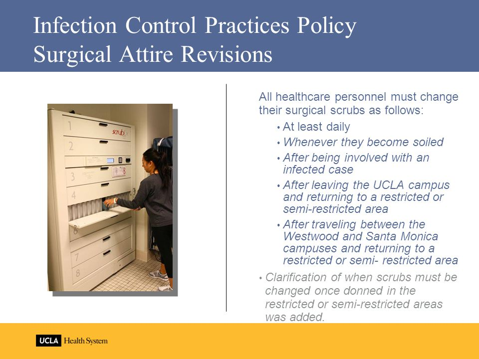 Infection Control Practices Policy Surgical Attire Revisions