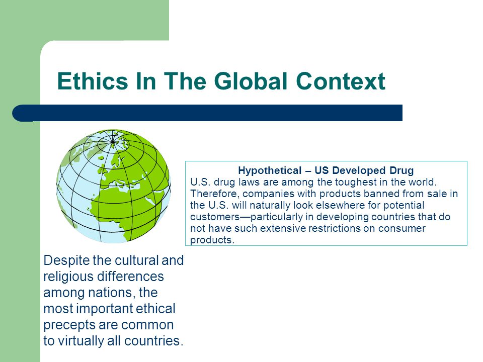 Ethics In The Global Context