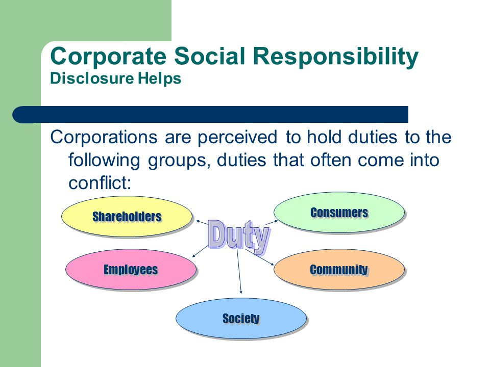 Corporate Social Responsibility Disclosure Helps