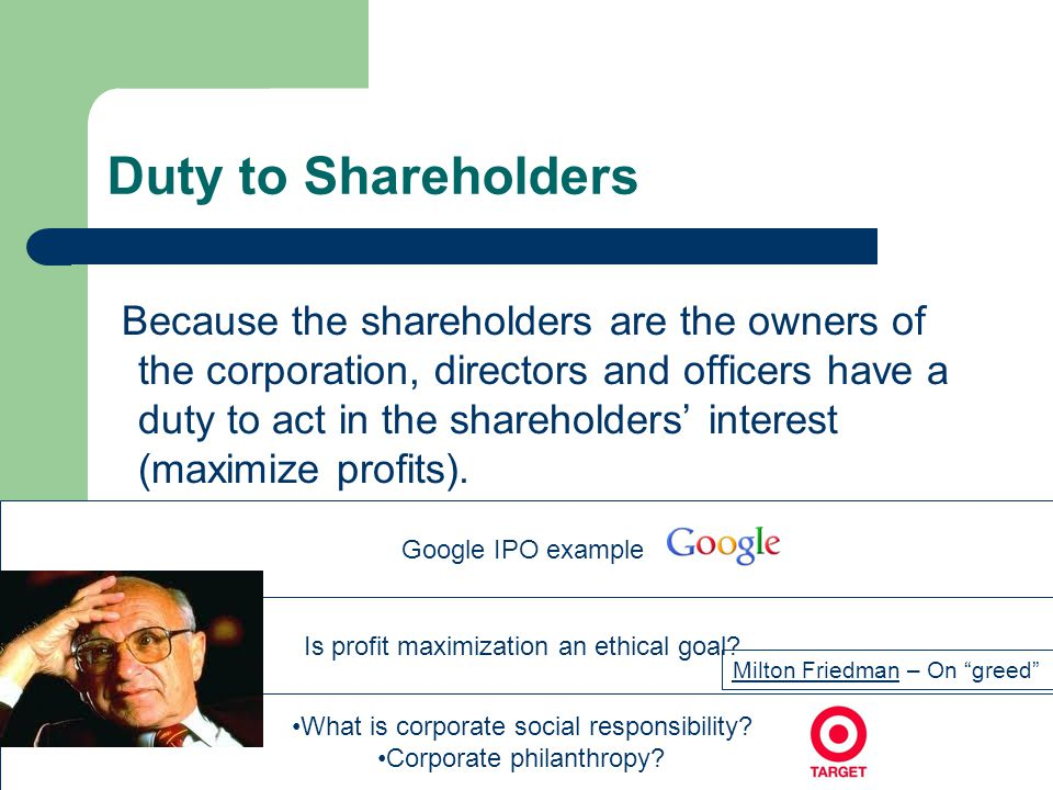 Duty to Shareholders