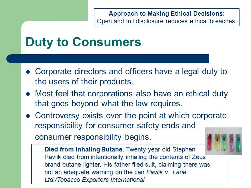 Approach to Making Ethical Decisions: