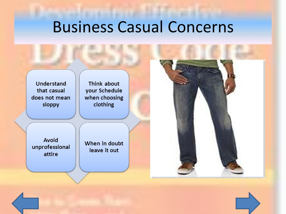 Business Casual Concerns
