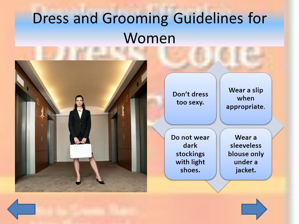 Dress and Grooming Guidelines for Women