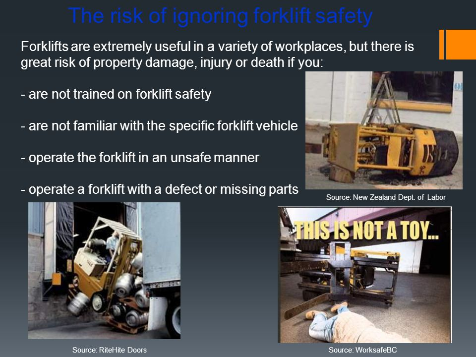 The risk of ignoring forklift safety