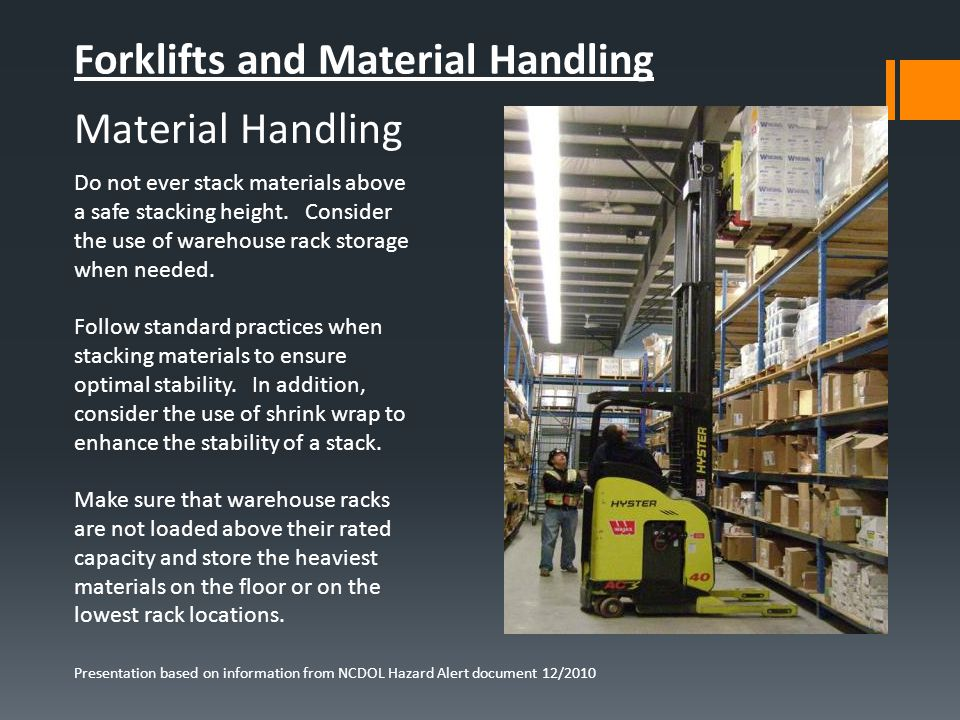 Forklifts and Material Handling