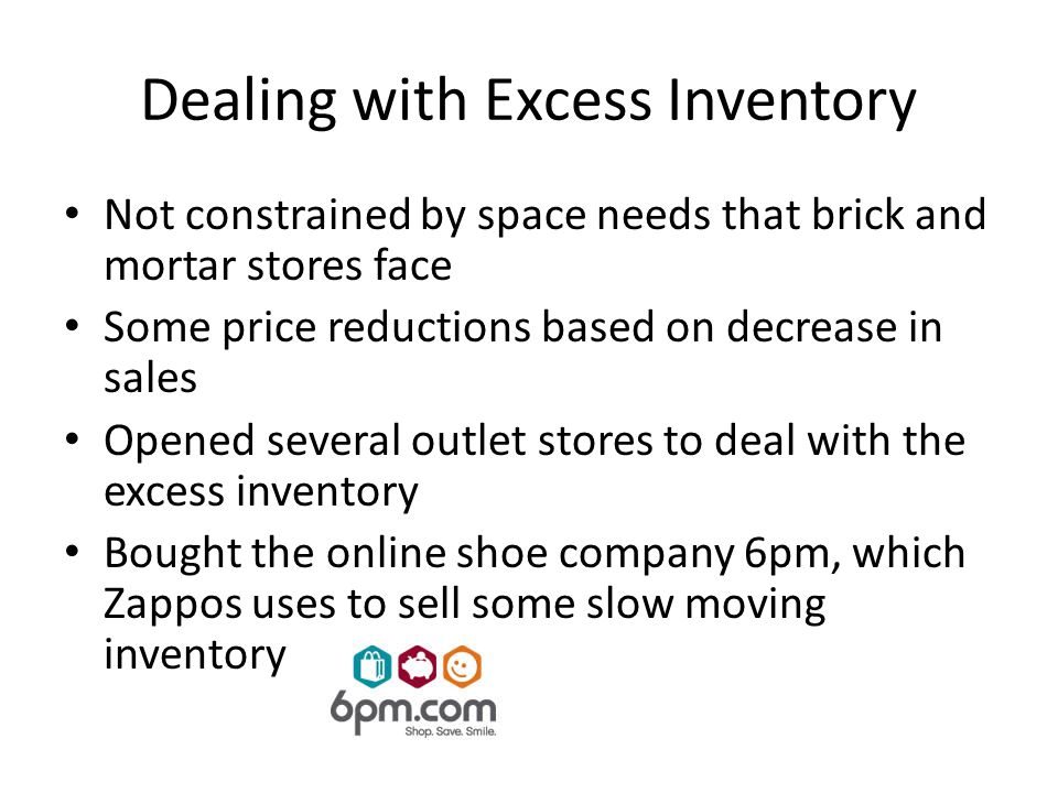 Dealing with Excess Inventory