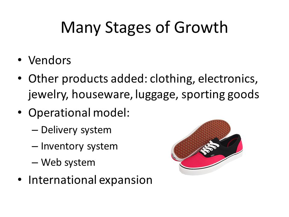 Many Stages of Growth Vendors