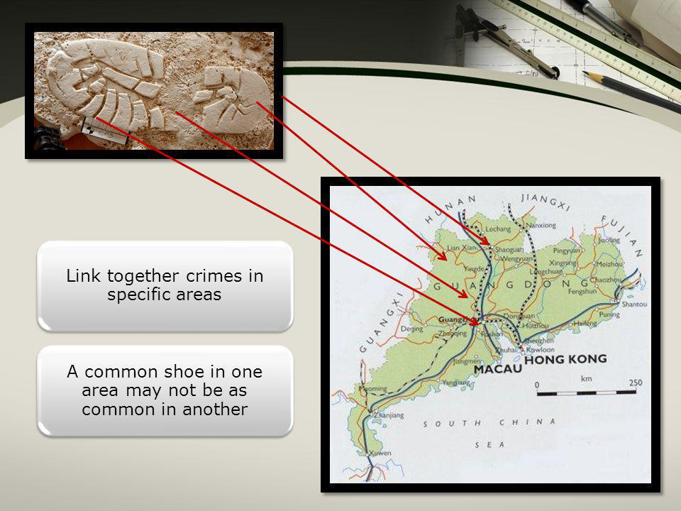 Link together crimes in specific areas