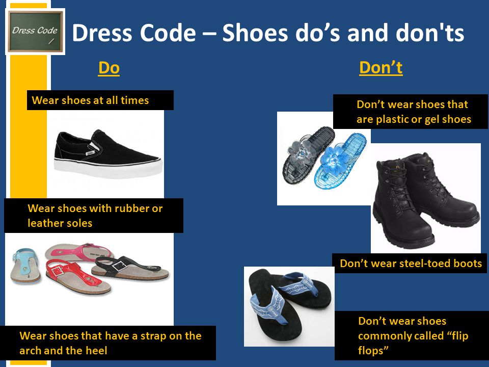 Dress Code – Shoes do's and don ts