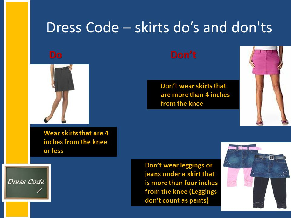 Dress Code – skirts do's and don ts