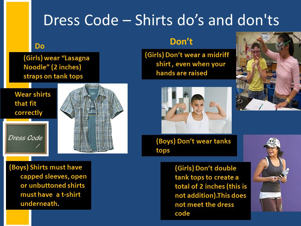 Dress Code – Shirts do's and don ts