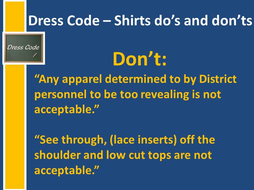 Dress Code – Shirts do's and don'ts