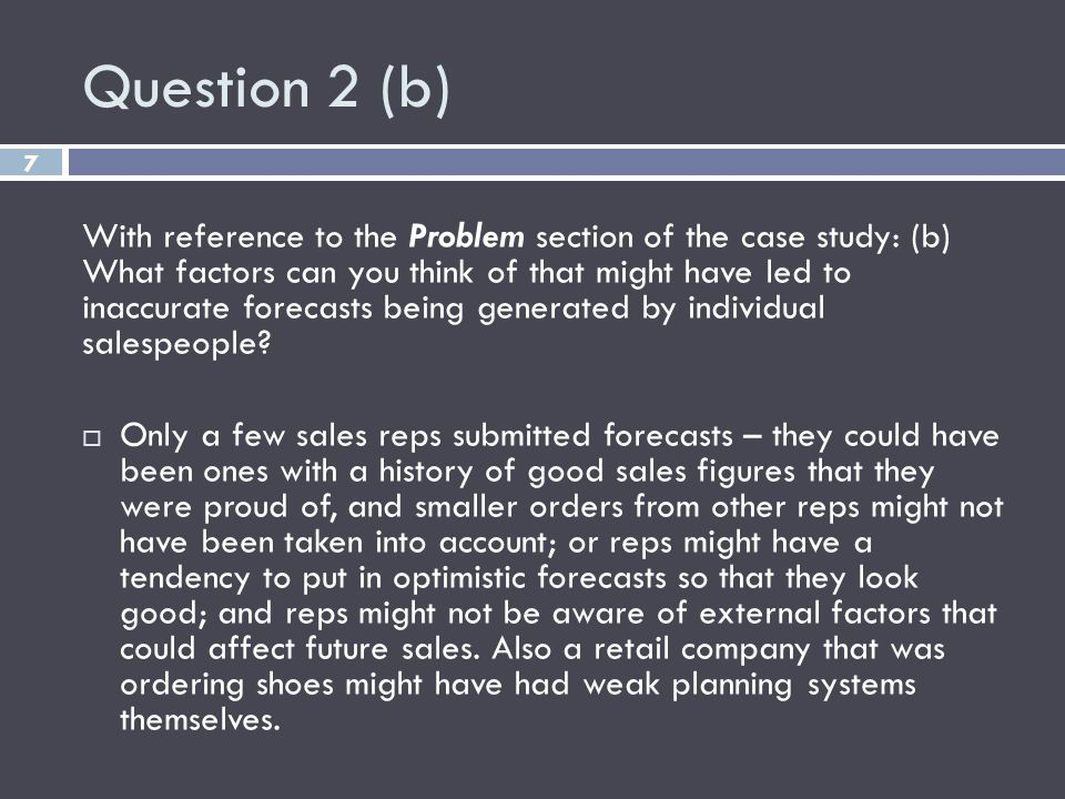Question 2 (b)