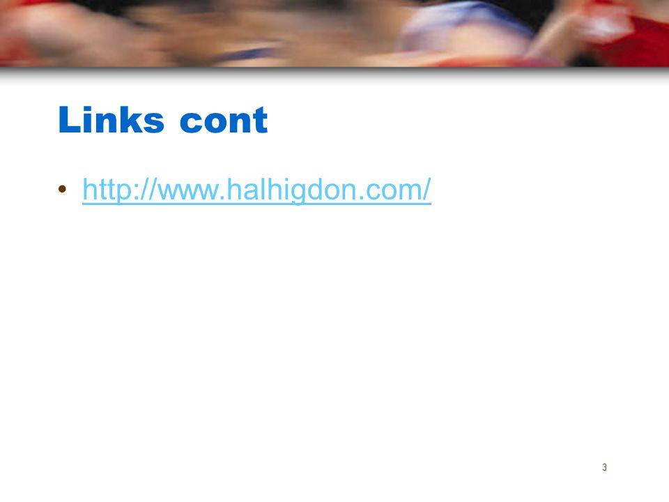 Links cont http://www.halhigdon.com/