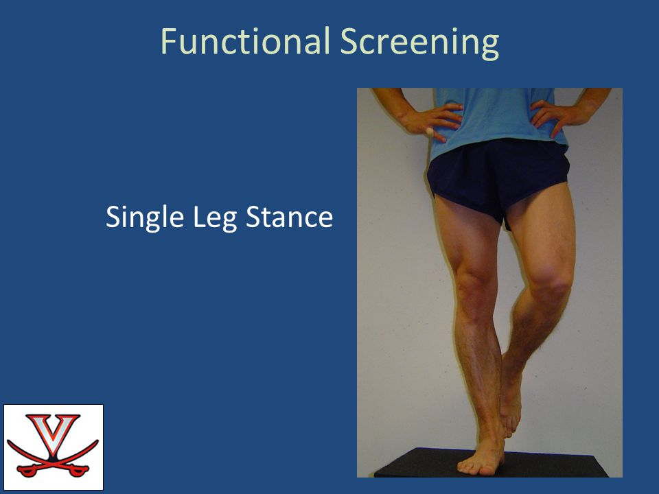 Functional Screening Single Leg Stance