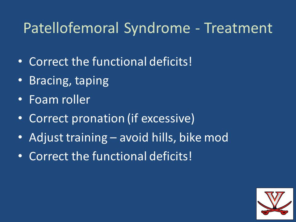 Patellofemoral Syndrome - Treatment