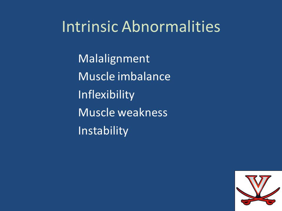 Intrinsic Abnormalities
