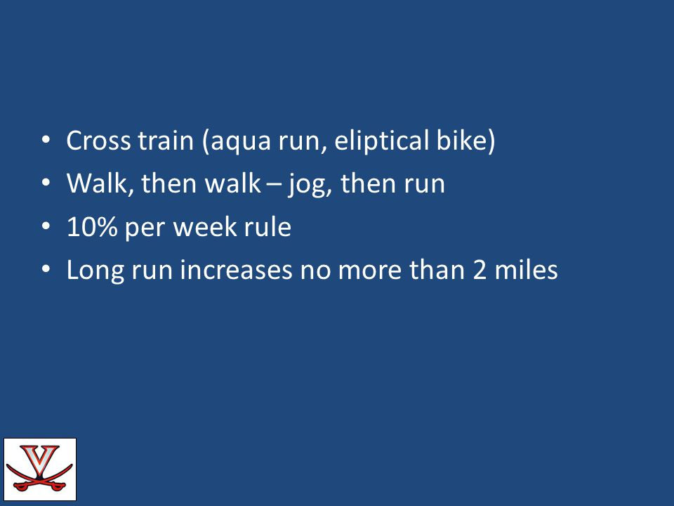 Cross train (aqua run, eliptical bike)