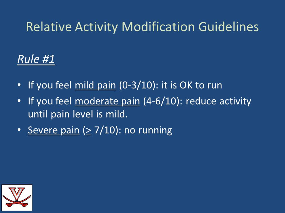 Relative Activity Modification Guidelines