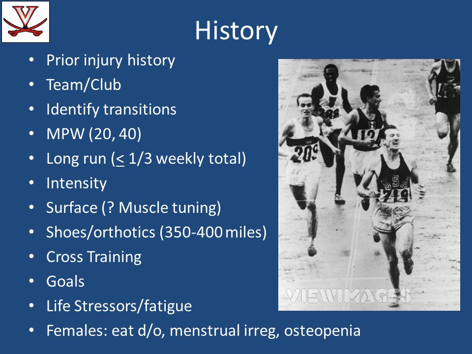History Prior injury history Team/Club Identify transitions