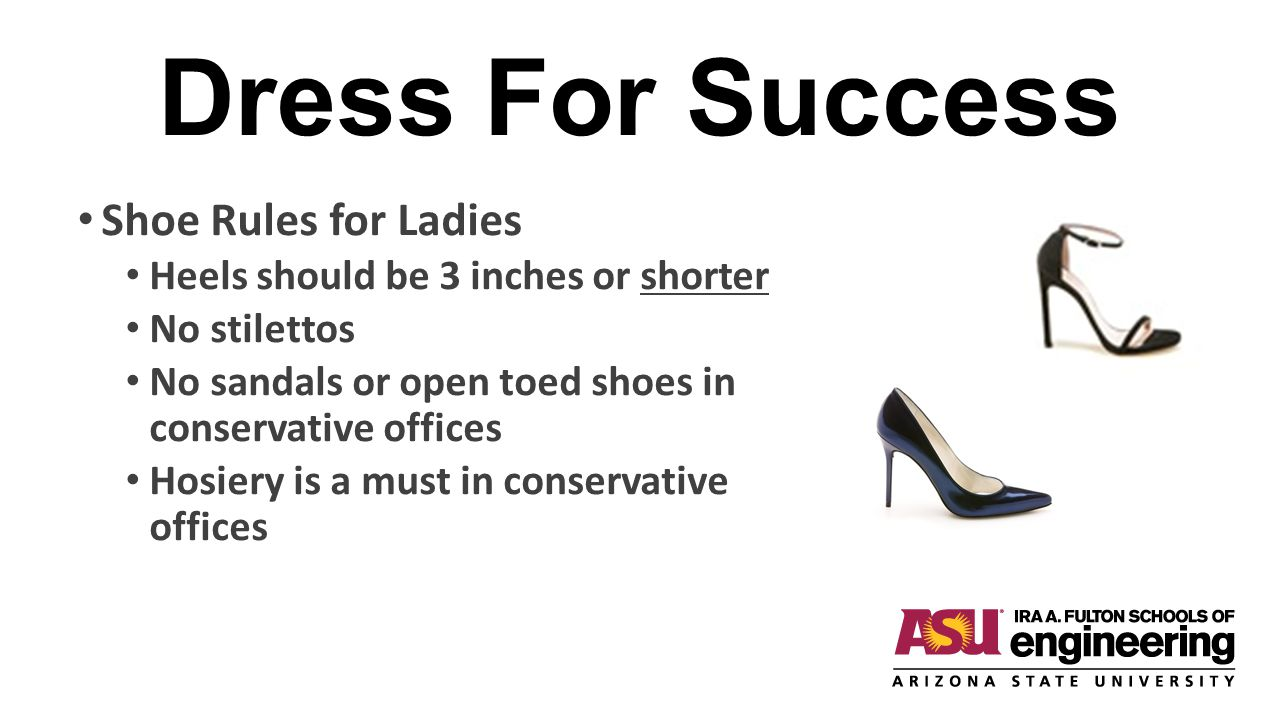 Dress For Success Shoe Rules for Ladies