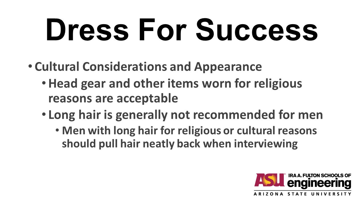 Dress For Success Cultural Considerations and Appearance