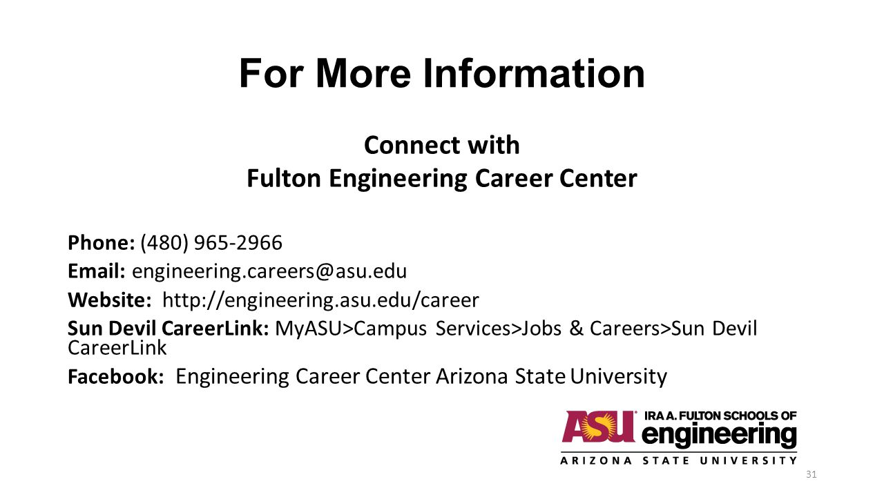 Fulton Engineering Career Center