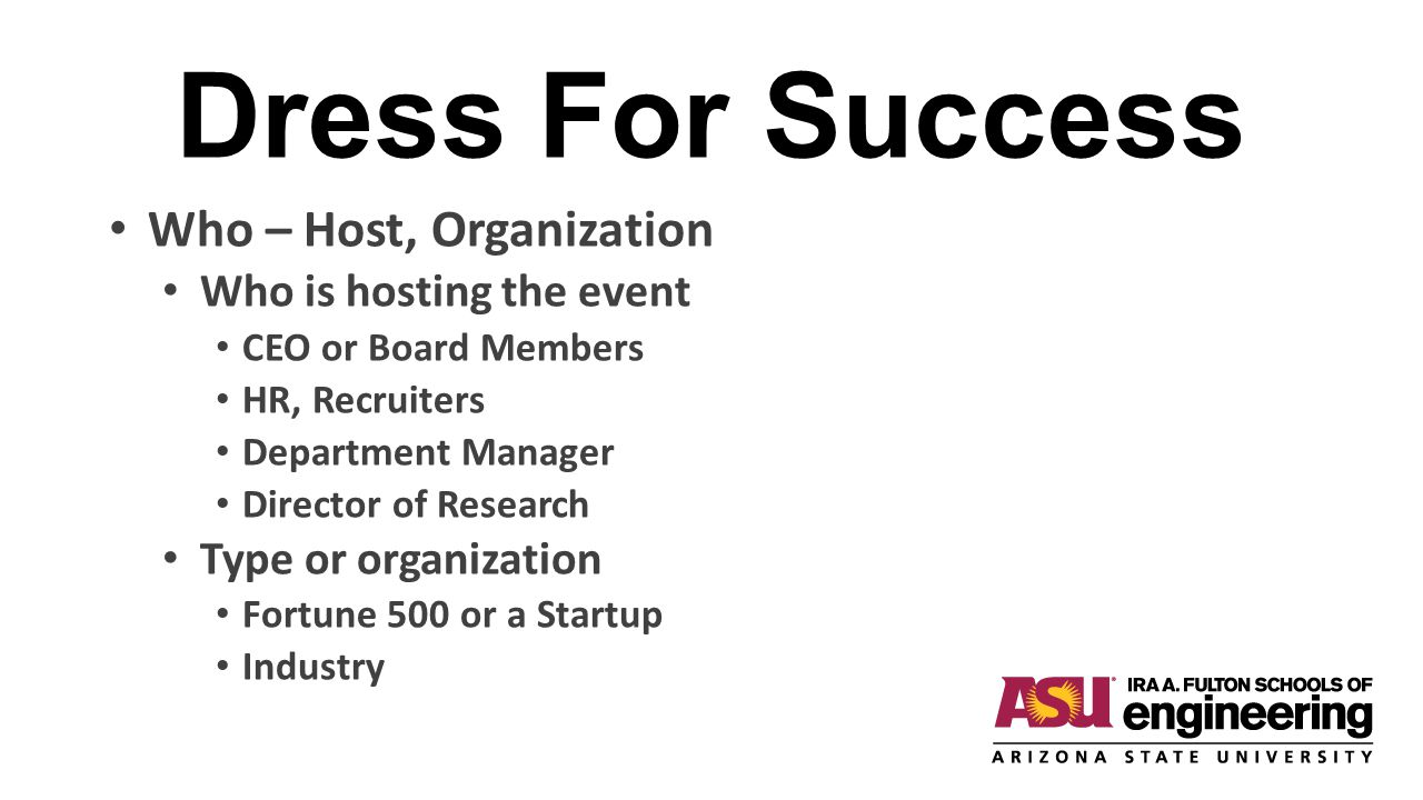 Dress For Success Who – Host, Organization Who is hosting the event