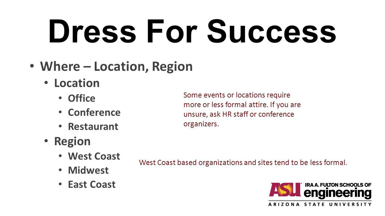 Dress For Success Where – Location, Region Location Region Office