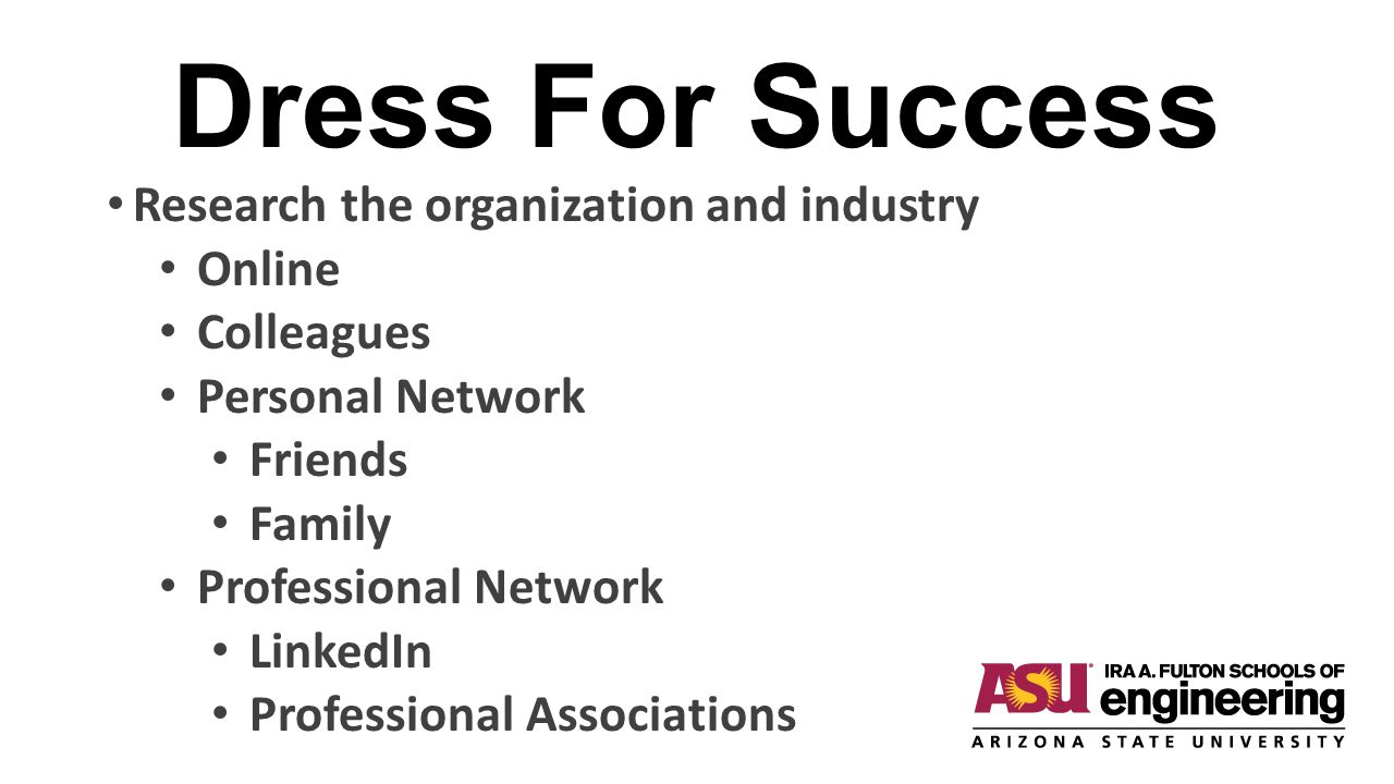Dress For Success Research the organization and industry Online